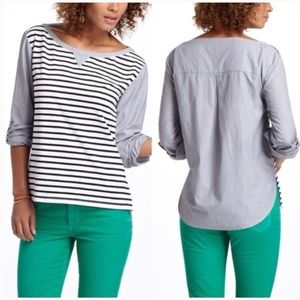 Anthropologie Postmark Conductor striped shirt XS